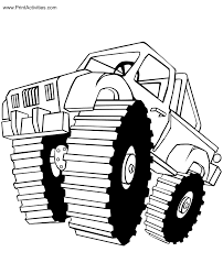monster truck coloring page free coloring sheet konnor u0027s