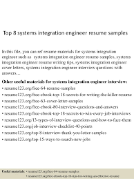 Security Engineer Resume Sample by Top 8 Systems Integration Engineer Resume Samples 1 638 Jpg Cb U003d1434270011