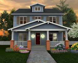 Home Patterns by The Floral Home Plan A Four Square Classic Craftsman U2013 Homepatterns