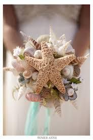 wedding bouquets with seashells she sells sea shells sea shell wedding ideas turquoise and