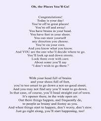 it graduation poem by drseuss drseussday april showers