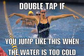 Competitive Swimming Memes - i jump like that every time swimming life pinterest swimming