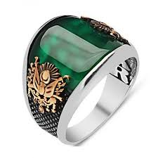 silver rings with images Curved green agate stone sterling silver ring ottasilver jpg