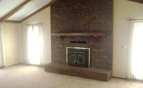 revamping an outdated brick fireplace without destruction