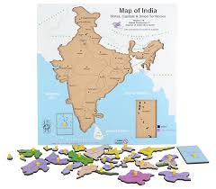 Bhopal India Map by Buy Skillofun Wooden Map Of India Multi Color Online At Low
