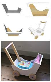 Free Wood Doll Cradle Plans by Diy Wood Stroller Plans Toy Tutorials Pinterest Diy Wood