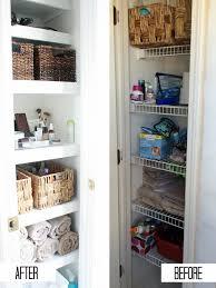 bathroom linen closet organization diy mama