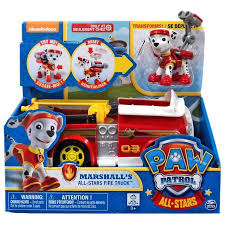 paw patrol marshall u0027s stars fire truck vehicle walmart