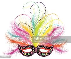 mardi gras feather masks mardi gras feather mask vector getty images