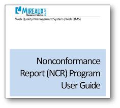 non conformance report form template non conformance report ncr web qms application