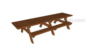 8 Ft Picnic Table Plans Free by 12 U0027 Picnic Table Plans Howtospecialist How To Build Step By