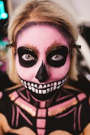 happy halloween skull makeup kate maree