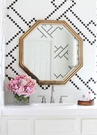 Powder Room Wallpaper by At Home With Becki Owens In San Clemente California Powder