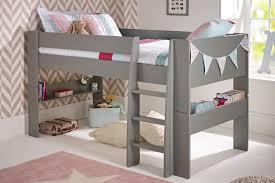Solitaire Cool Grey Mid Sleeper - Mid sleeper bunk bed