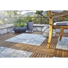 auvent en bois pour terrasse dalle clipsable bois marron naturel l 30 x l 30 cm x ep 25 mm