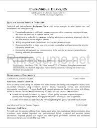 Example Of Nursing Resume by New Registered Nurse Resume Sample Nurse Sample Cover Letter