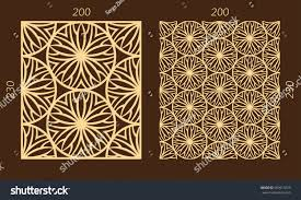 laser cutting set woodcut vector trellis stock vector 669915529