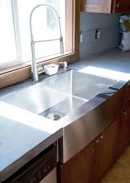 Concrete Kitchen Sink by Diy Concrete Counters Poured Over Laminate Averie Lane Diy