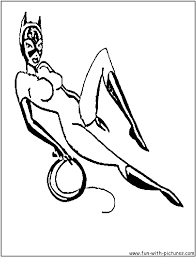 cat woman coloring pages