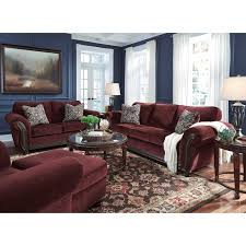 Traditional Sofas Living Room Furniture by Traditional Sofa With Flared Rolled Arms U0026 Wood Trim By Signature