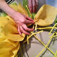 sunflower mesh wreath shambray