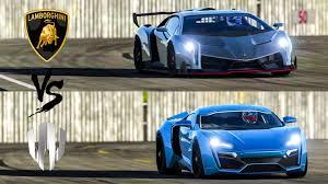 Lamborghini Veneno Blue - lamborghini veneno vs w motors lykan hypersport top gear track