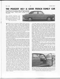the peugeot family the peugeot 403 u2013 a good french family car motor sport magazine
