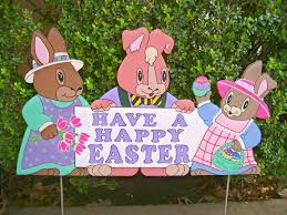 Easter Yard Decorations by Easter Yard Art Decorations Made To Order Holiday Yard Art Made