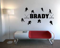 home decor quotes custom personalized match of ice hockey wall stickers quotes home