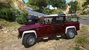 land rover 110 land rover defender 110 pickup unlocked gta5 mods com