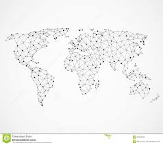 Vector World Map Networking World Map Texture Low Poly Earth Vector Global