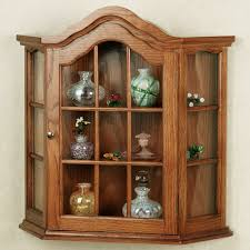 curio cabinet curio cabinets wall mounted wooden with glass