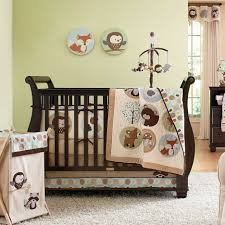 Jungle Themed Crib Bedding Forest Jungle Theme Bedding Sheet For Black Wooden Crib