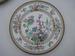or indian tree antique vintage royal doulton china plates