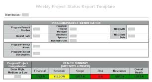 weekly report template ppt weekly status report template project weekly status report