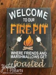 Fire Pit Signs by Open To The Public Halloween U0026 Thanksgiving Wood Signs Workshop
