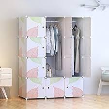 amazon com tespo portable clothes closet wardrobe diy modular