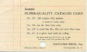 though a big time user of library catalogs i remember card