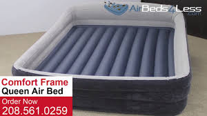 table extraordinary air mattress bed frame inflatable guest with