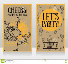templates for party invitations christmas deer drinking alcohol