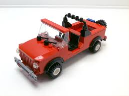 mobil jeep lama tutorial lego 4x4 red jeep cc youtube