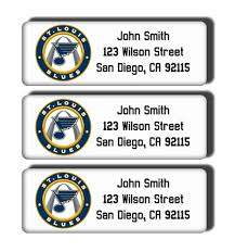 st louis blues return address labels hockey team stickers