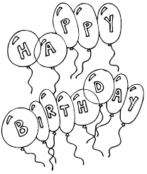 coloring pages happy birthday balloons preschoolers