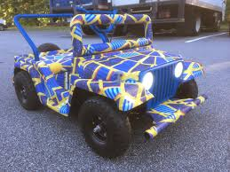 blue camo jeep volpin props the marriott chariot