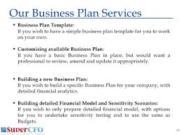simple business model template supercfo business plan presentation