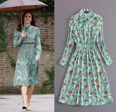 kate middleton dresses 2018 2017 kate middleton new floral print a line sleeve
