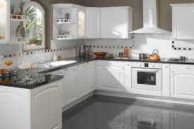 photo de cuisine blanche plan de travail arrondi cuisine faade laque plan de travail en