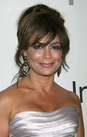 upsweep hairstyles for older women updo for older women paula abdul wearing a messy updo hairstyle