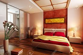modern style bedroom interior 3d rendering stock photo picture