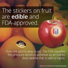 edibles fruits fruit stickers are edible